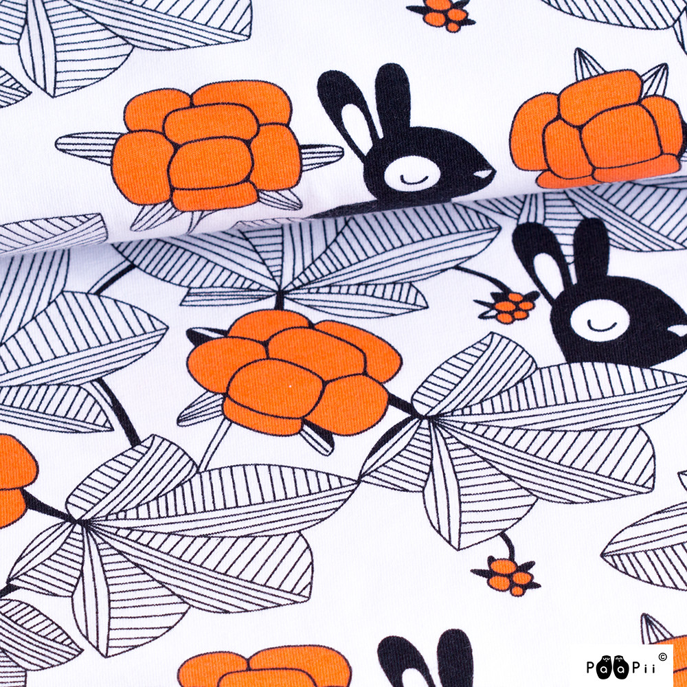 Hilda trikoo, valkoinen - oranssi