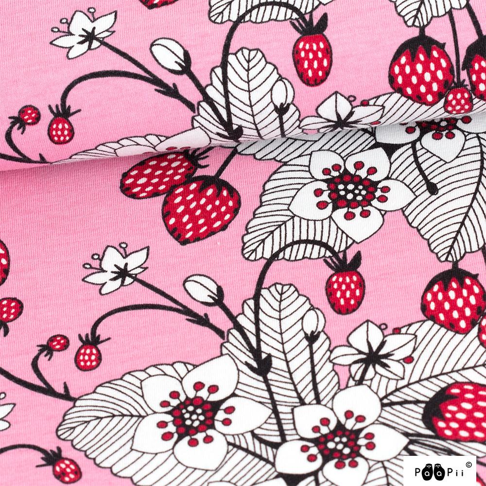 Mansikat trikoo, vaaleanpunainen