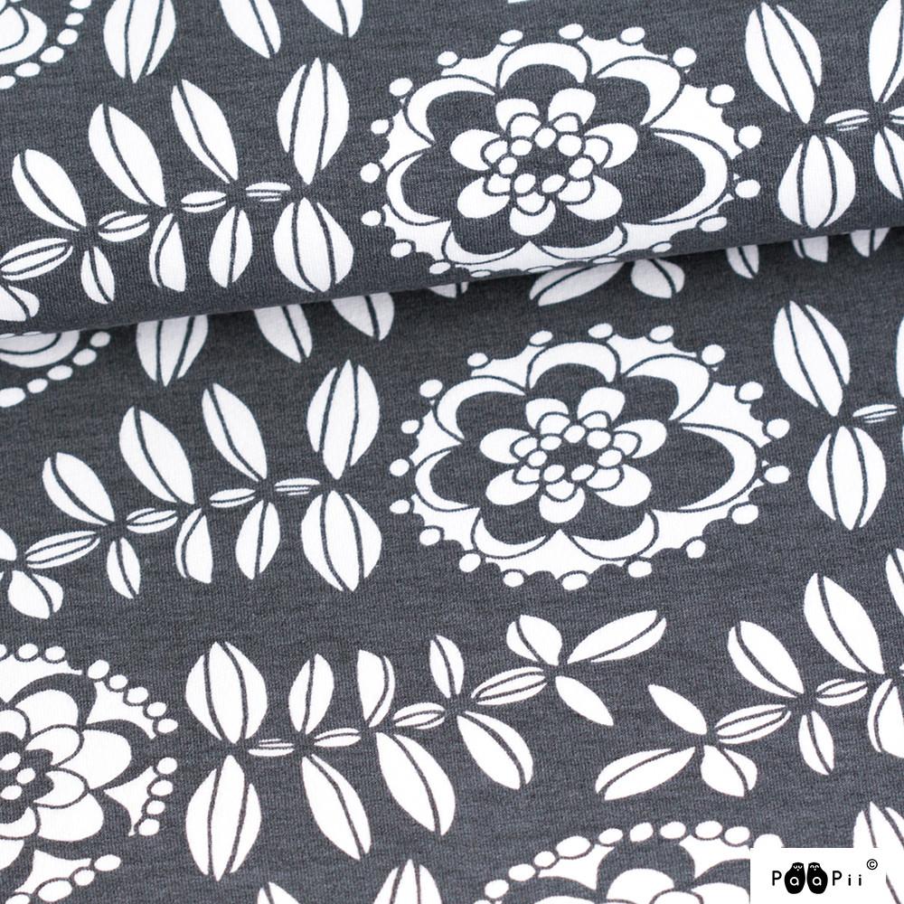 Fleur organic sweatshirt knit, dark grey