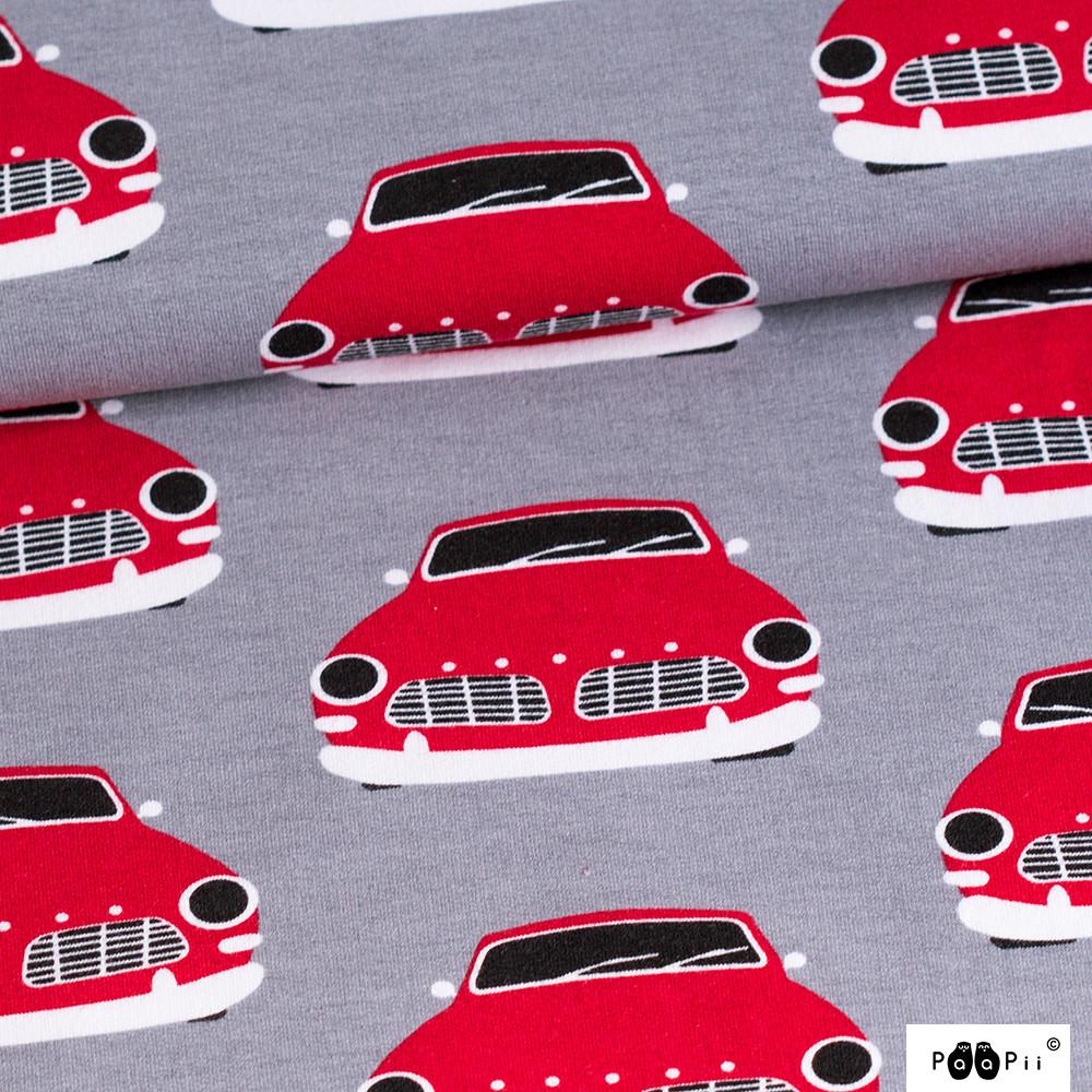 Vintage autot joustocollege, punainen - harmaa