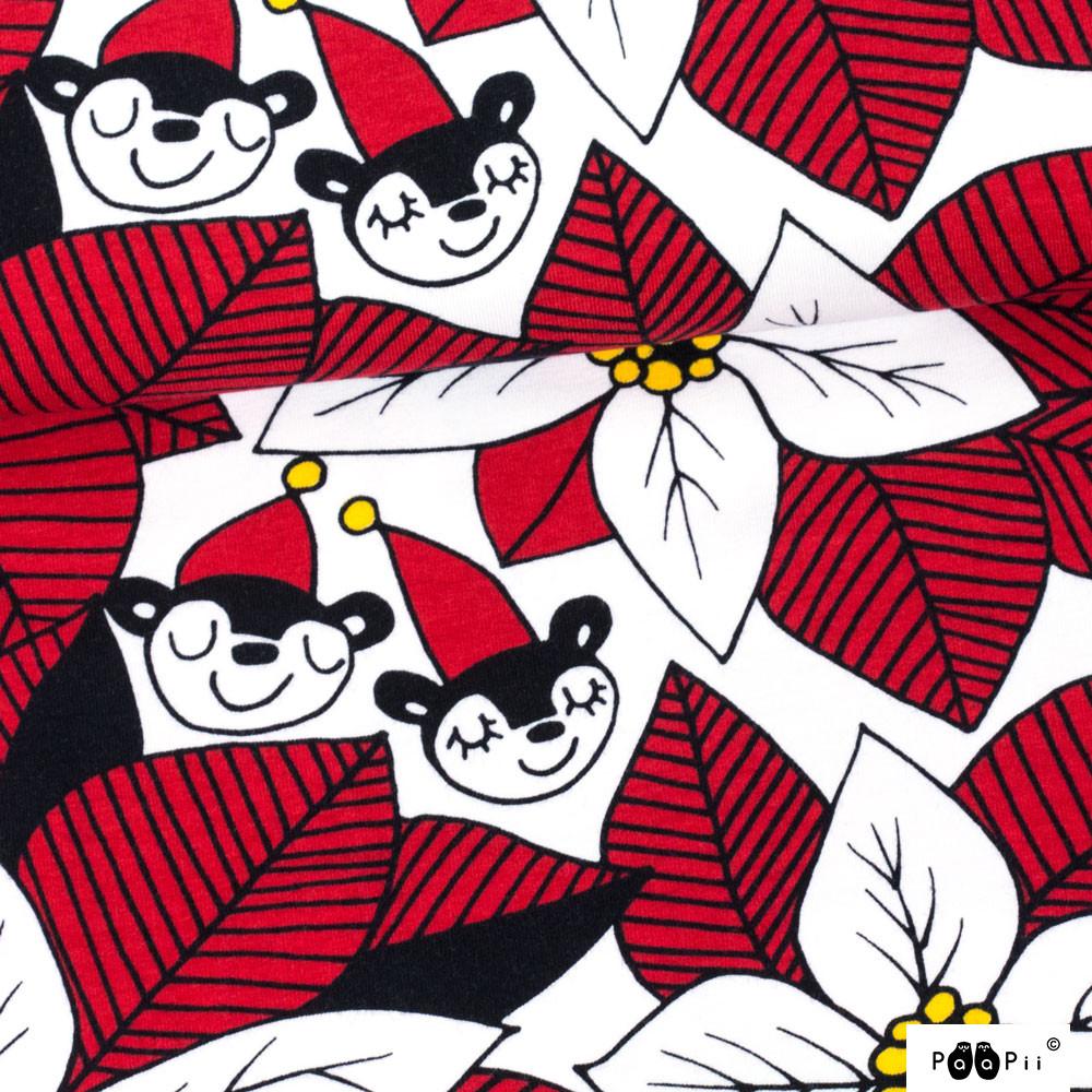 Joulutähti trikoo, punainen