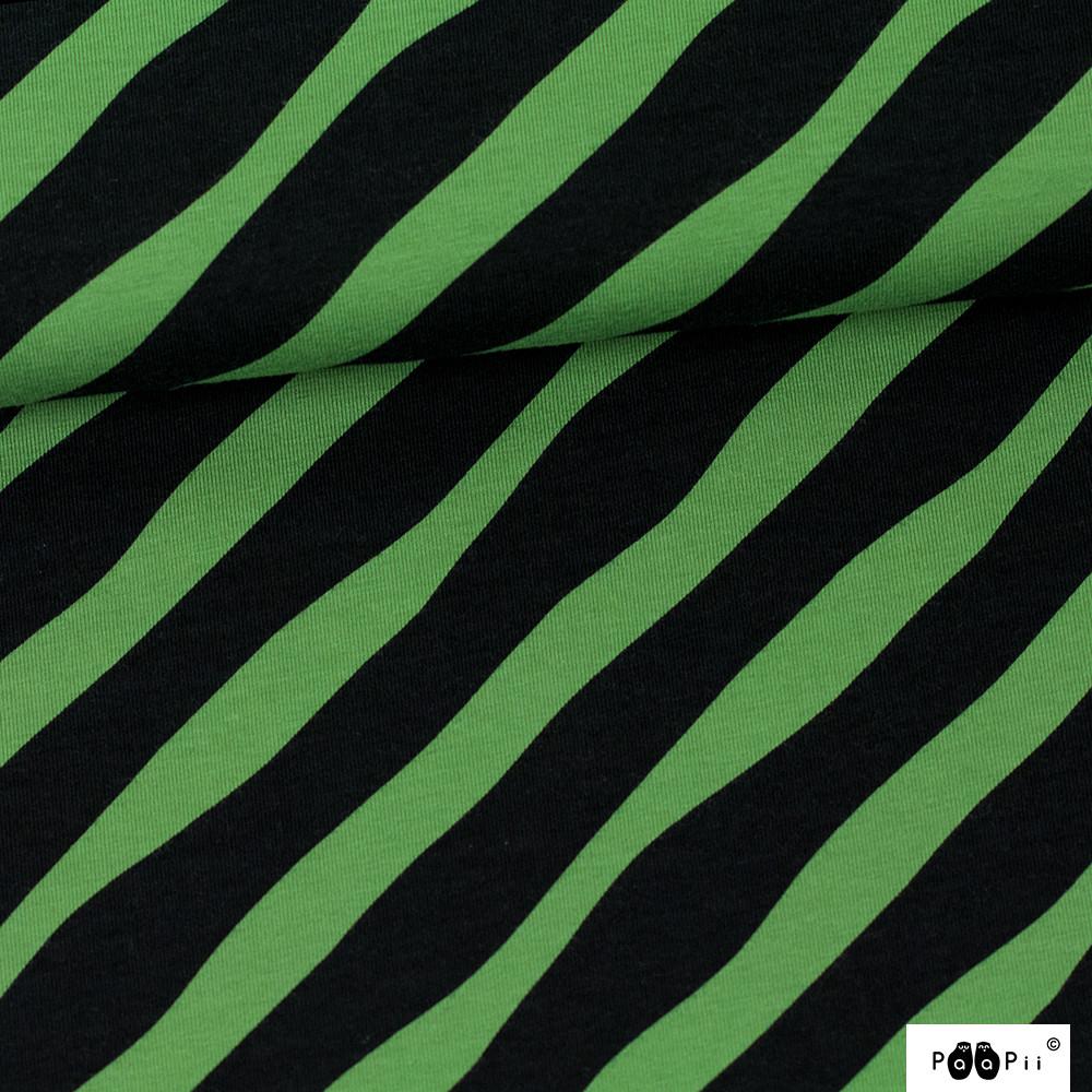 Diagonaali trikoo, metsä - musta