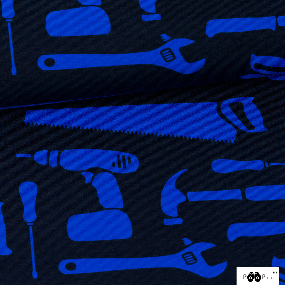 Työkalut trikoo, sininen - musta