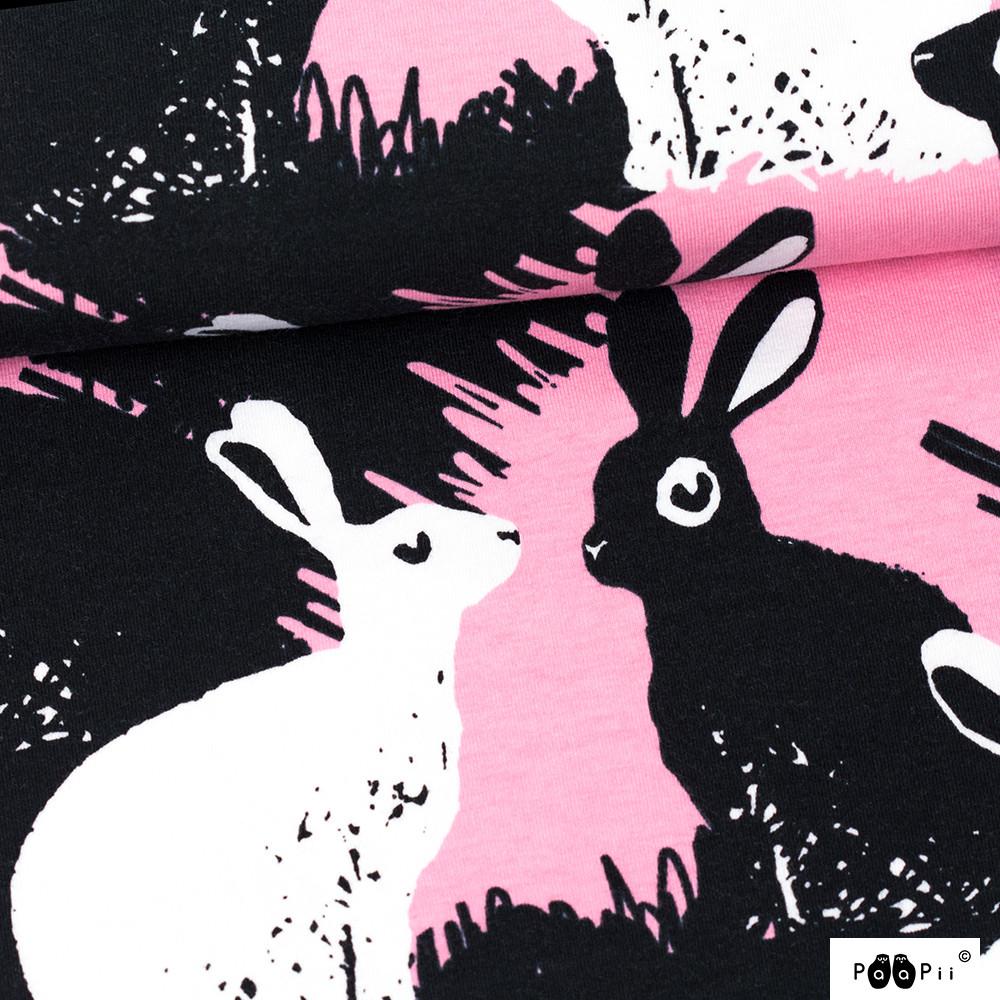 Rabbits organic jersey, light pink