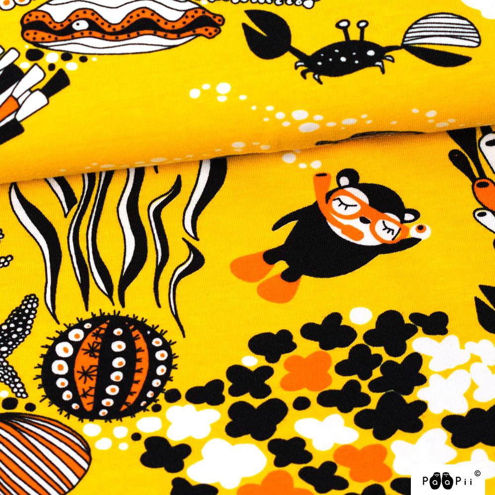 Myyry the diver organic jersey, sun - orange
