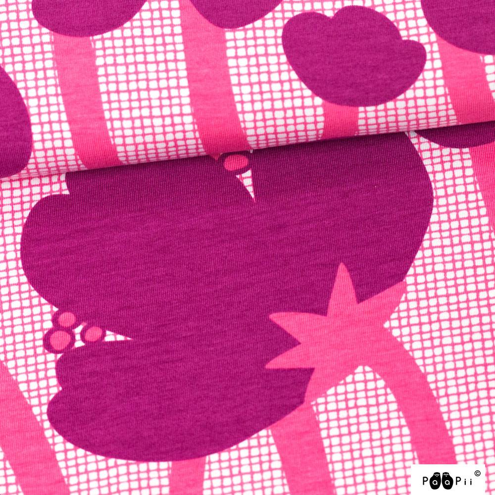Niittyleinikki trikoo, violetti - pinkki