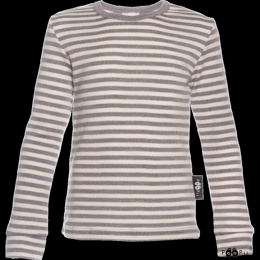 LOIMU paita - merinovilla, harmaa - luonnonvalkoinen