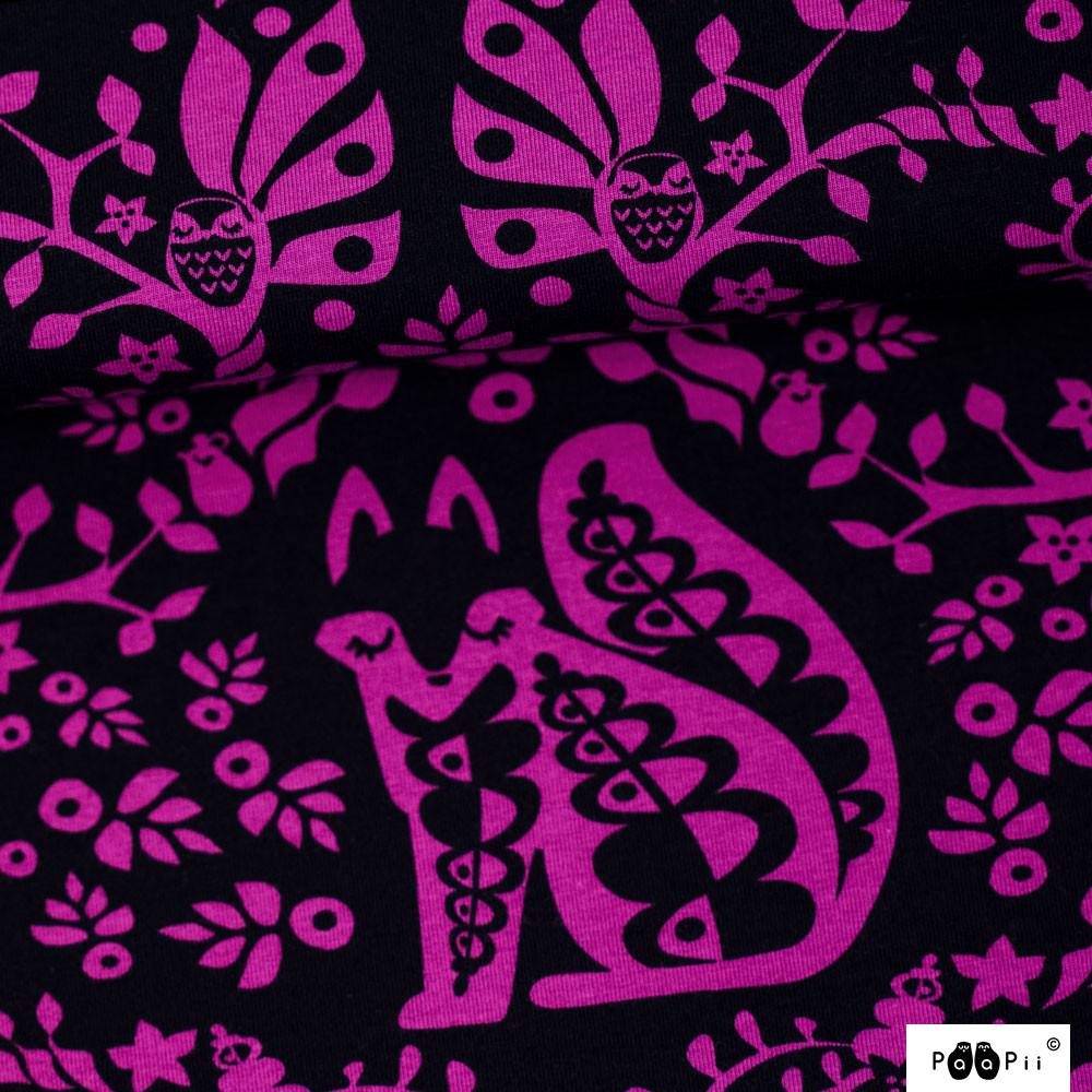 Mielikki trikoo, violetti - musta