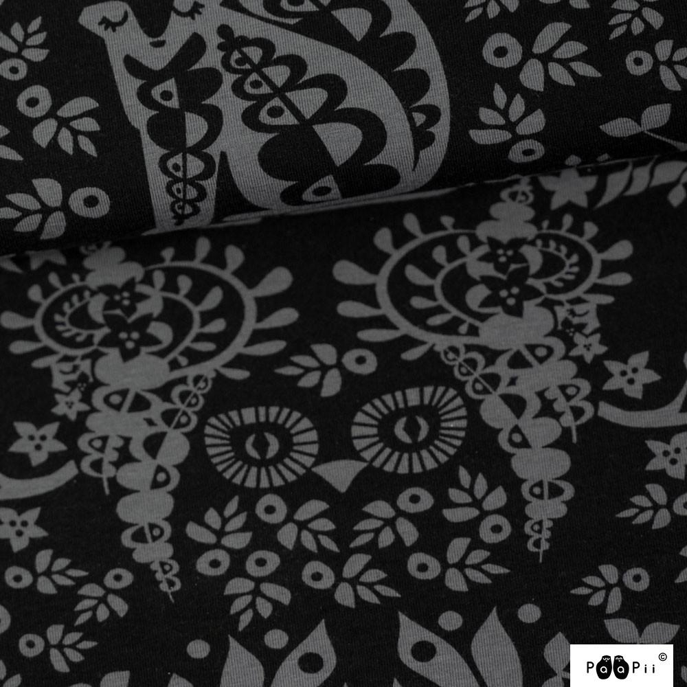 Mielikki trikoo, tummanharmaa - musta