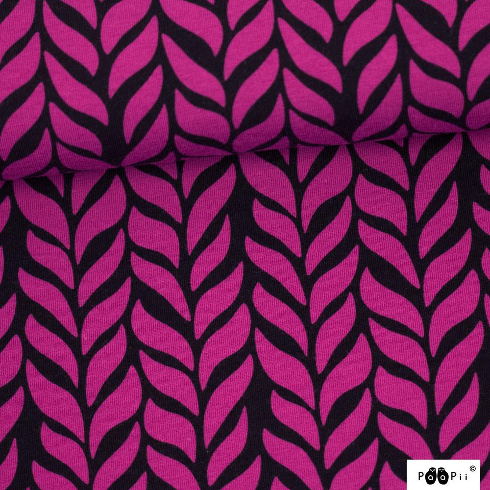 Palmikko joustocollege, violetti - musta
