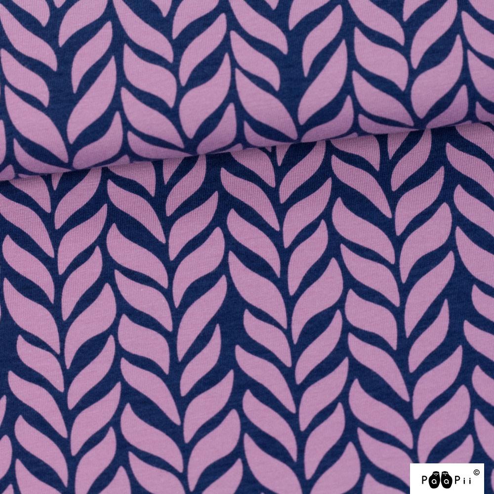 Palmikko trikoo, lila - mustikka
