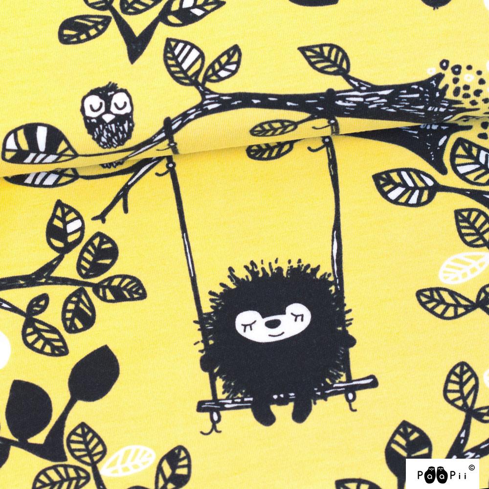 Siiri in the swing organic jersey, yellow