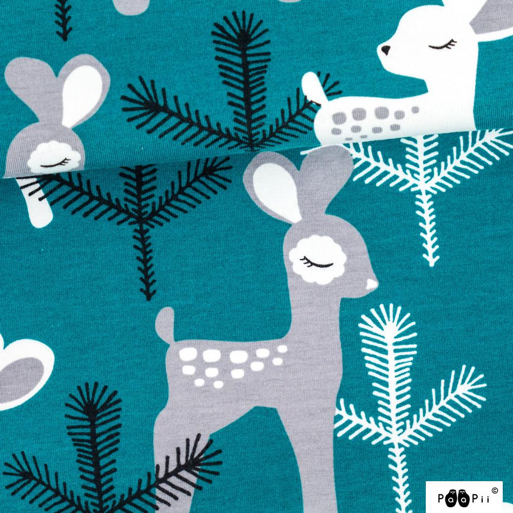 Bambi trikoo, petrooli - harmaa