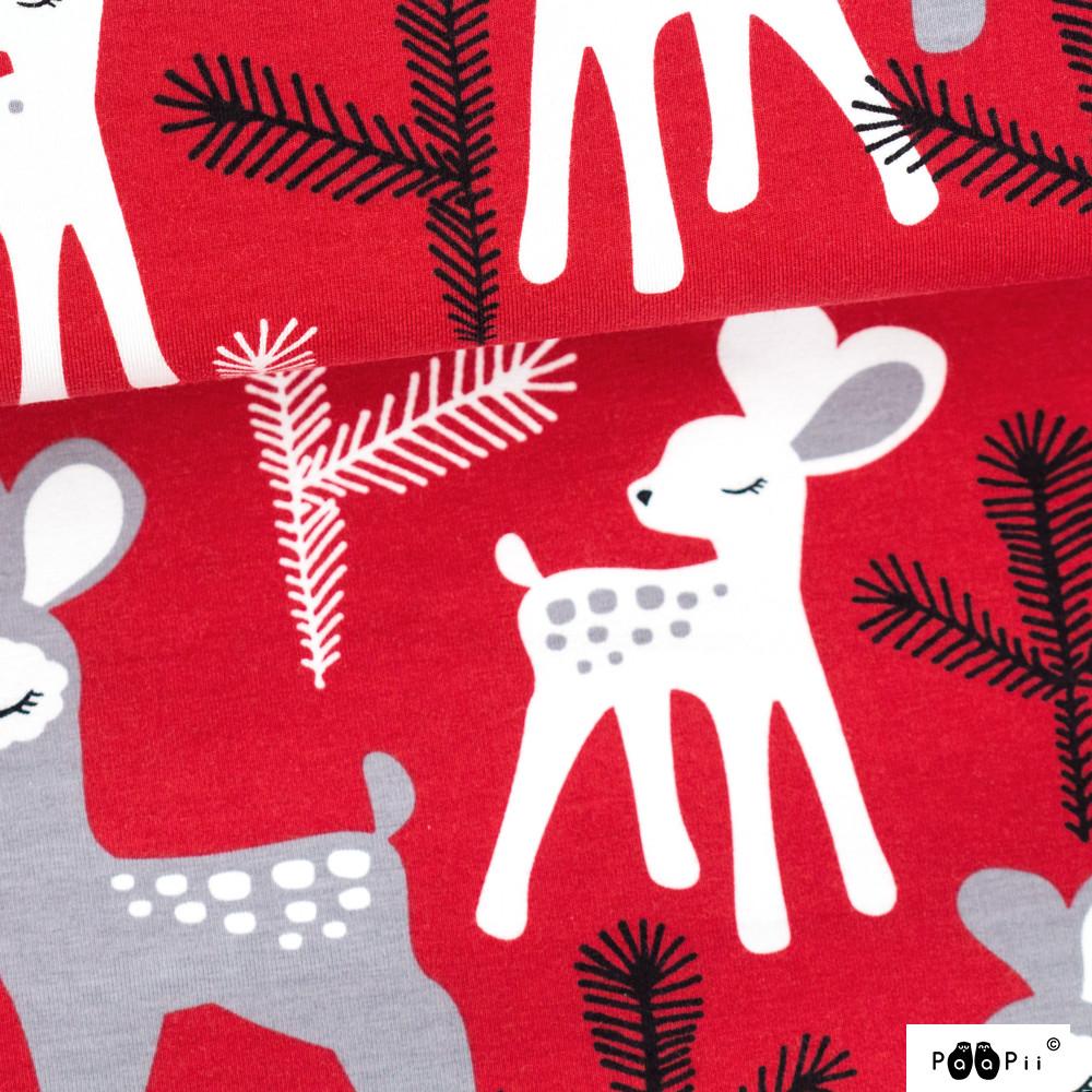 Bambi trikoo, punainen - harmaa