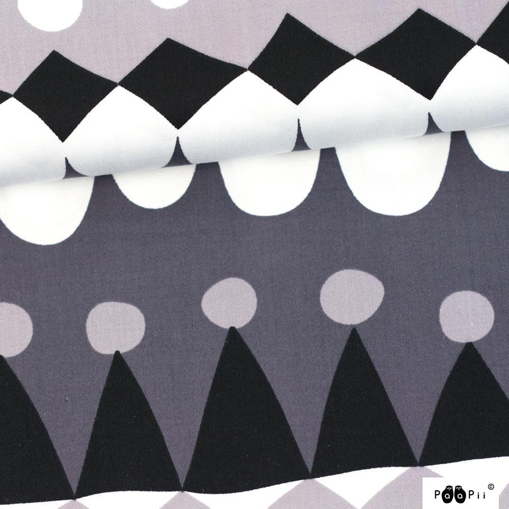 Jussi puuvillasatiini, tummanharmaa - harmaa