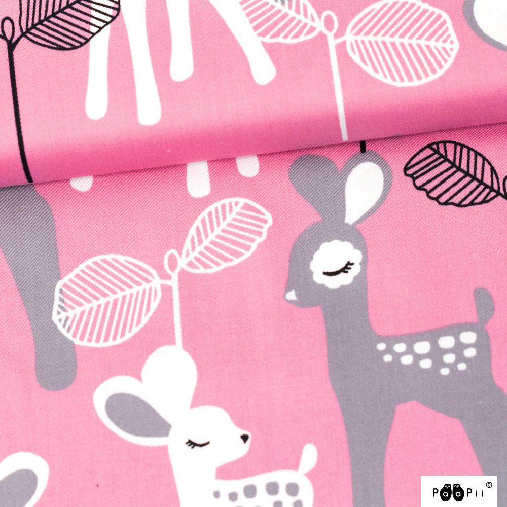 Bambi puuvillasatiini, vaaleanpunainen