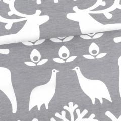 Reindeer organic jersey, grey