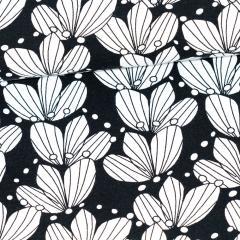 Bouquet organic jersey, black & white