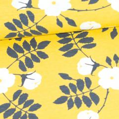 Midsummer rose organic jersey, yellow