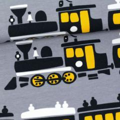 Train organic sweatshirt knit, grey