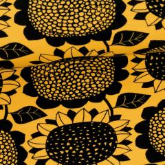 Sunflower organic sweatshirt knit, sun