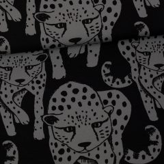 Gepardi trikoo, tummanharmaa - musta