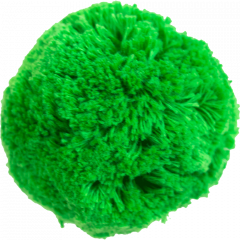 Cotton pom pom 7cm, green
