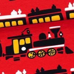 Train organic jersey, red - sun