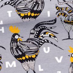 Rooster trikoo, harmaa - okra