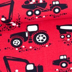 Työkoneet trikoo, punainen