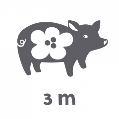 MERINOVILLA Possupussi, 3m kankaita