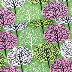 Vuodenajat trikoo, metsä - vaaleanpunainen - omena