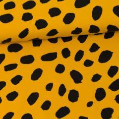 Gepardi dots joustocollege, okra - musta