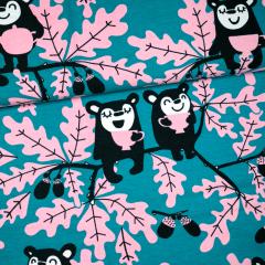 Tammi trikoo, petrooli - vaaleanpunainen