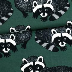 Pesukarhu trikoo, tummanvihreä - harmaa