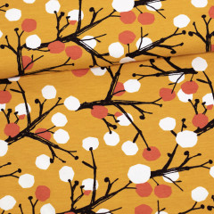Marjapuu trikoo, okra - ruoste
