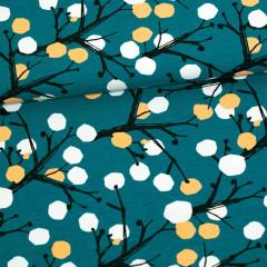 Marjapuu trikoo, petrooli - persikka