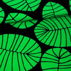 Banaaninlehti trikoo, vihreä - musta