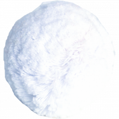 Puuvillatupsu 7cm, kylmänvalkoinen