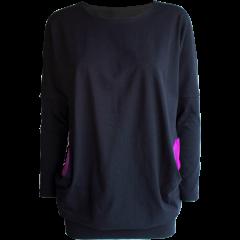 HALO tunic, black - purple