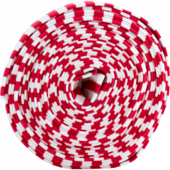 Organic ribbing, red - white