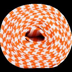 Organic ribbing, orange - white