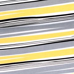 Aalto trikoo, harmaa - keltainen