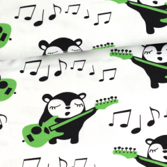 Myyry rokkaa trikoo, valkoinen -  vihreä