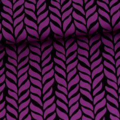 Palmikko trikoo, violetti