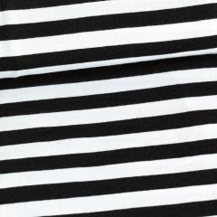 Striped (10mm) organic jersey, black & white