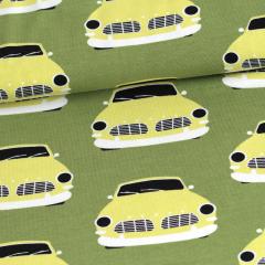 Vintage autot trikoo, metsä