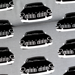 Vintage cars organic jersey, grey