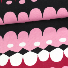 Jussi organic sweatshirt knit, red - light pink