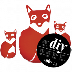 DIY Fox family, red